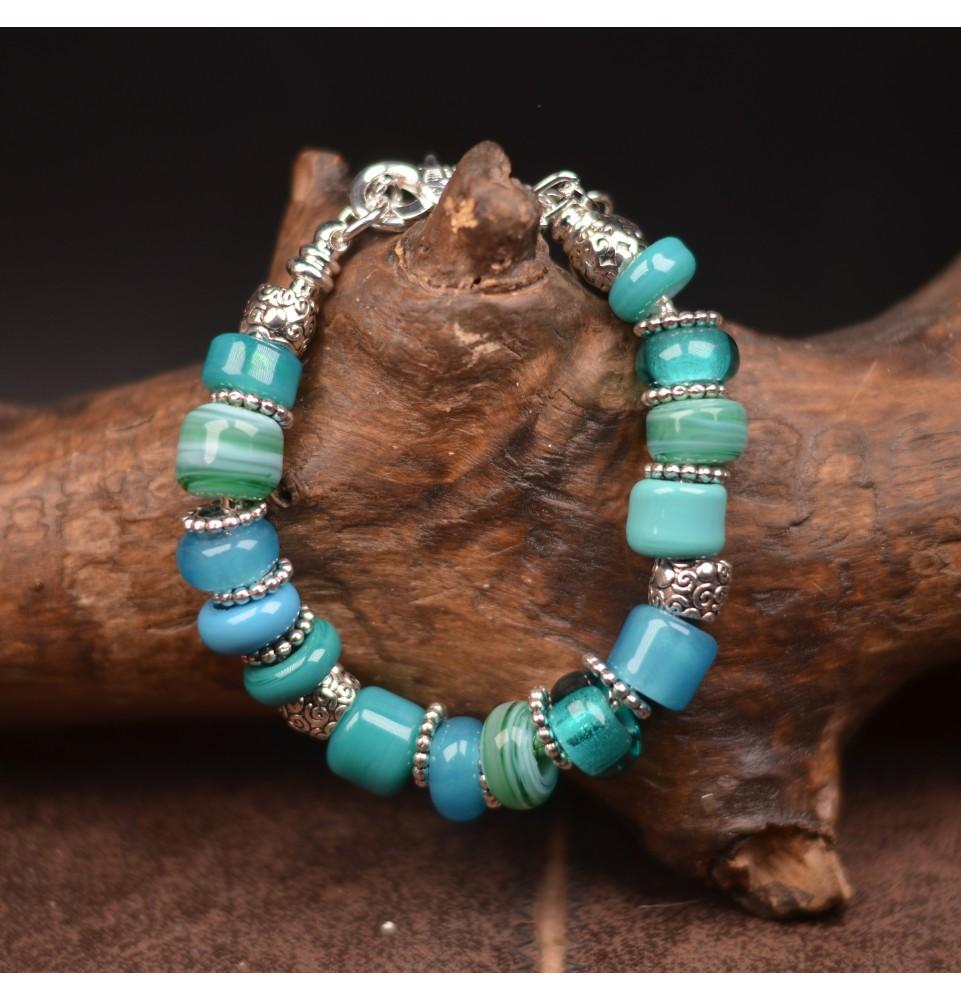bracelet bleu vert